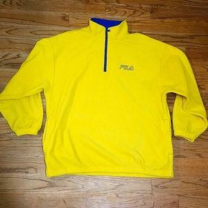 Fila 1/4 fleece pullover sweat shirt XL
